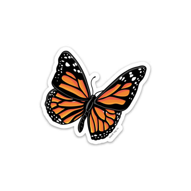 The Monarch Butterfly Sticker Blank Tag Co Animal Stickers Homemade Stickers Bubble Stickers
