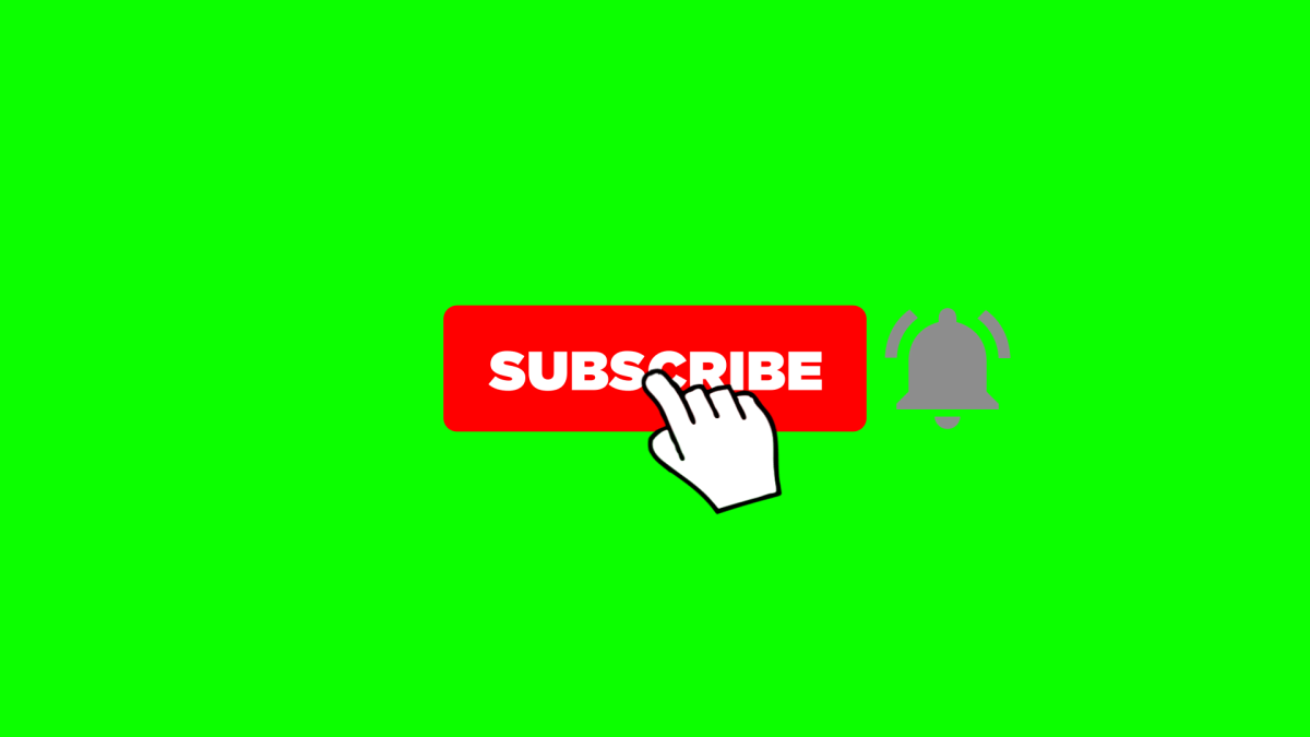 Download Free Ae Template Subscribe Button And Bell Icon Animation Greenscreen Youtube Banner Template Youtube Banner Backgrounds
