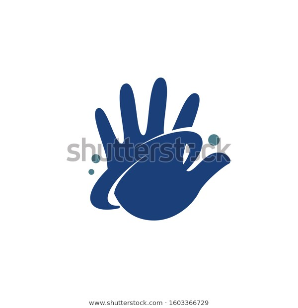Hand High Five Ring Around Stock Vector Royalty Free 1603366729 Logo Template Vector High Five Stock Vector
