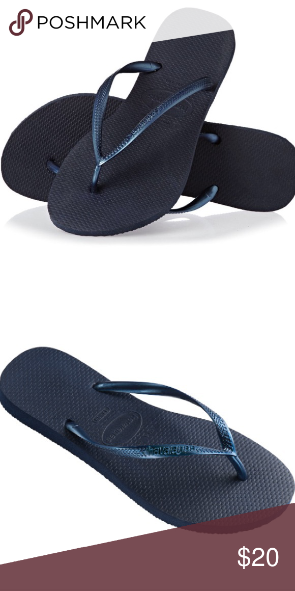c54cbeb377050e NWT Havaianas flip flops Brand new blue sandals. Slim style. Price is firm  Havaianas Shoes Sandals