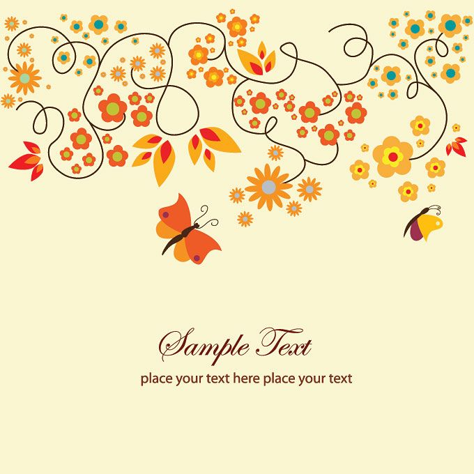 red #green #orange #design #leaves TYP-5 Greeting Cards - greeting card templates