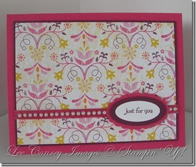 sketch for simple note cards #stampinup