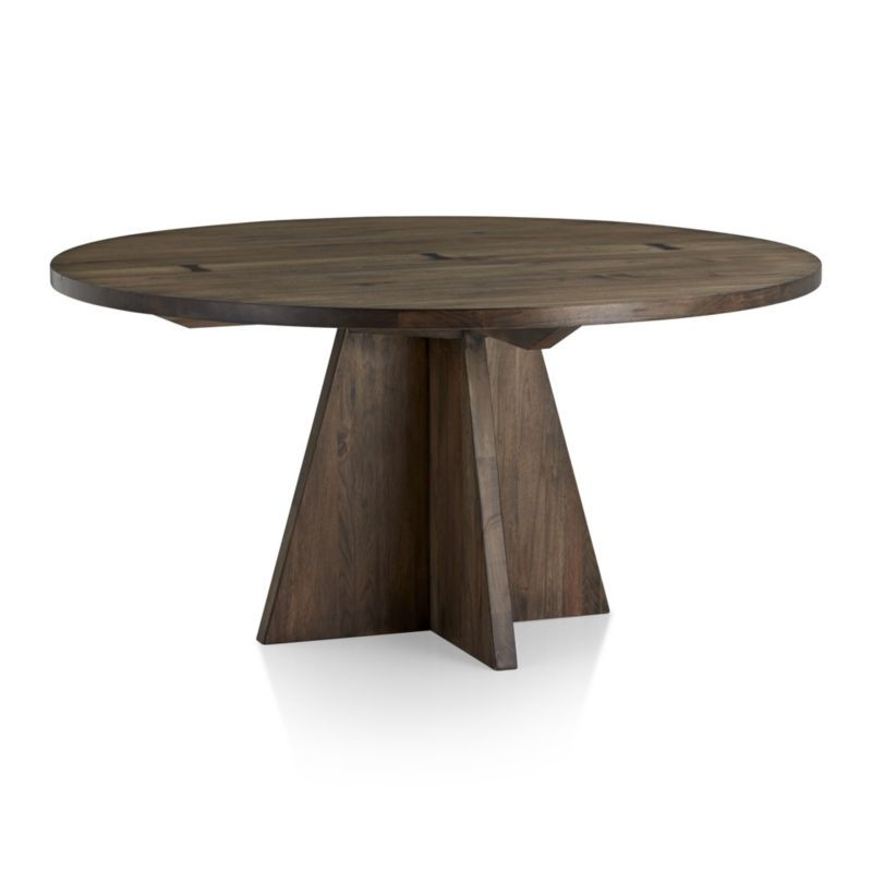 Shop Monarch 60 Solid Walnut Round Dining Table Seating Six The