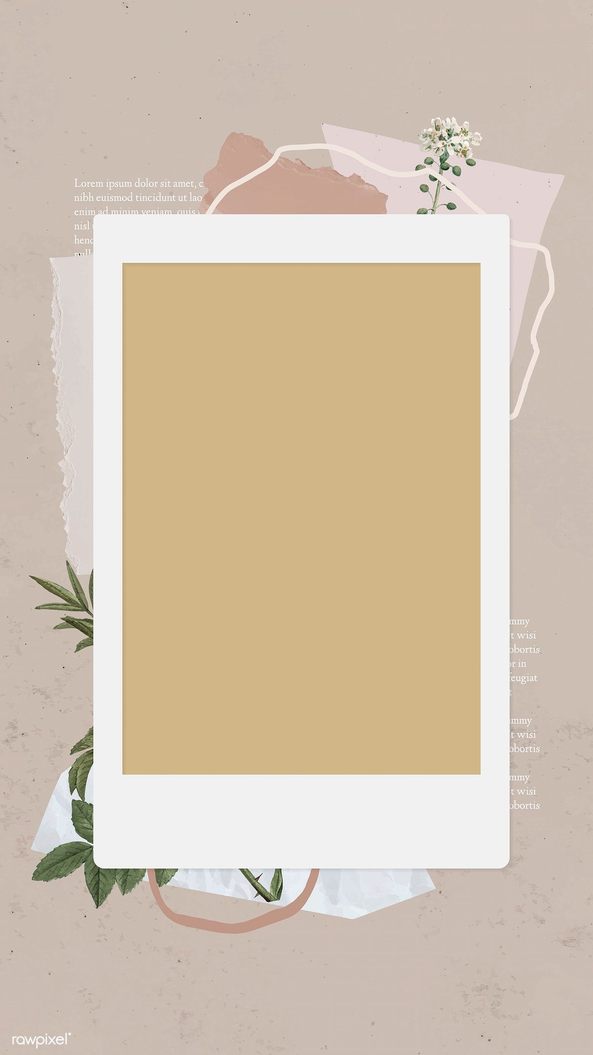 Download Premium Vector Of Blank Collage Photo Frame Template Vector Instagram Frame Template Instagram Frame Frame Template