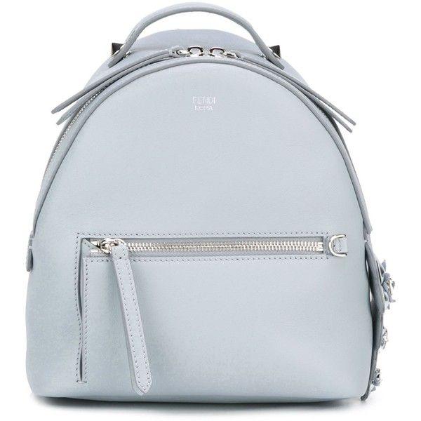 Fendi mini backpack (€2.420) ❤ liked on Polyvore featuring bags, backpacks, blue, blue backpack, mini rucksack, crocodile backpack, leather knapsack and miniature backpack