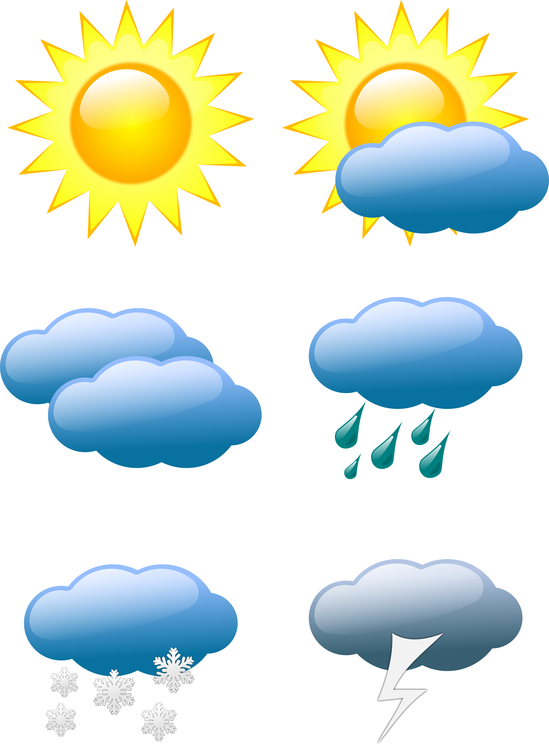 Weather Symbols By Sivvus Weather Symbols On