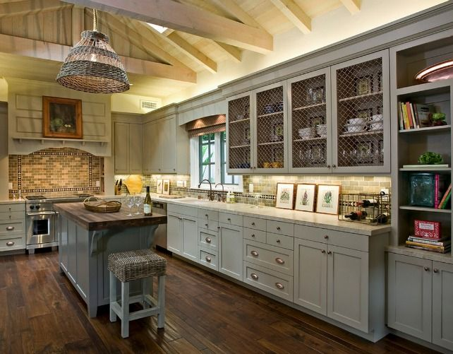 Chicken Wire Cabinets French Country Kitchen Cabinets Country Kitchen Designs Kitchen Cabinet Design