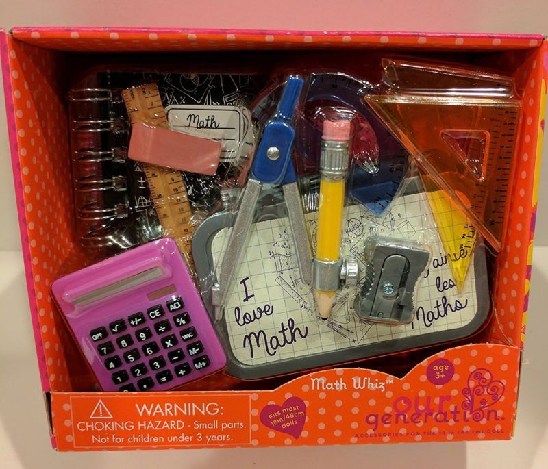 NEW! School Supplies Set works for 18 American Girl Dolls Accessories (#382138860875) for $21.99 #americangirlhouse