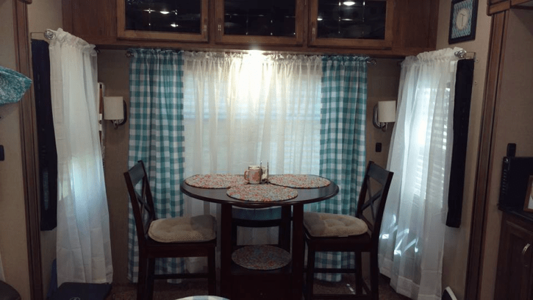 Rv Window Makeover Ideas With Pictures Camper Curtains Rv