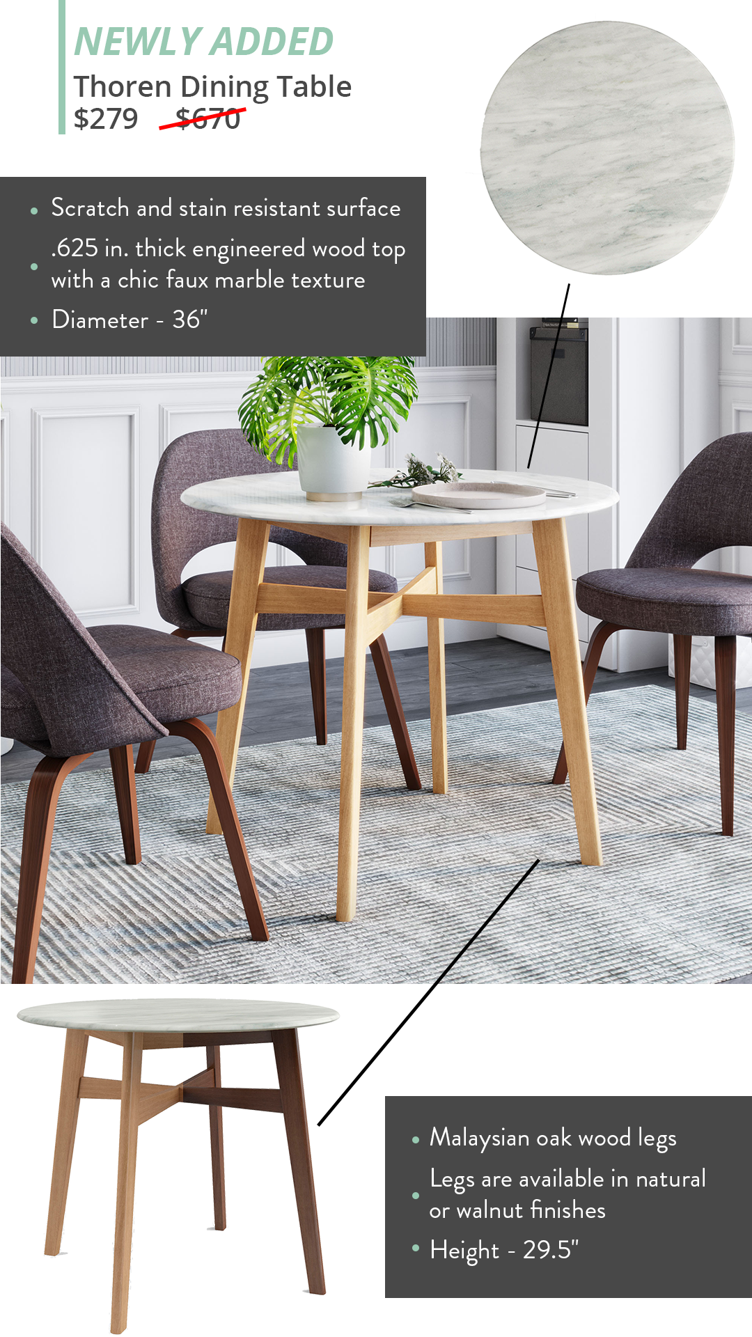 Thoren Dining Table Dining Table Eclectic Chairs Dining