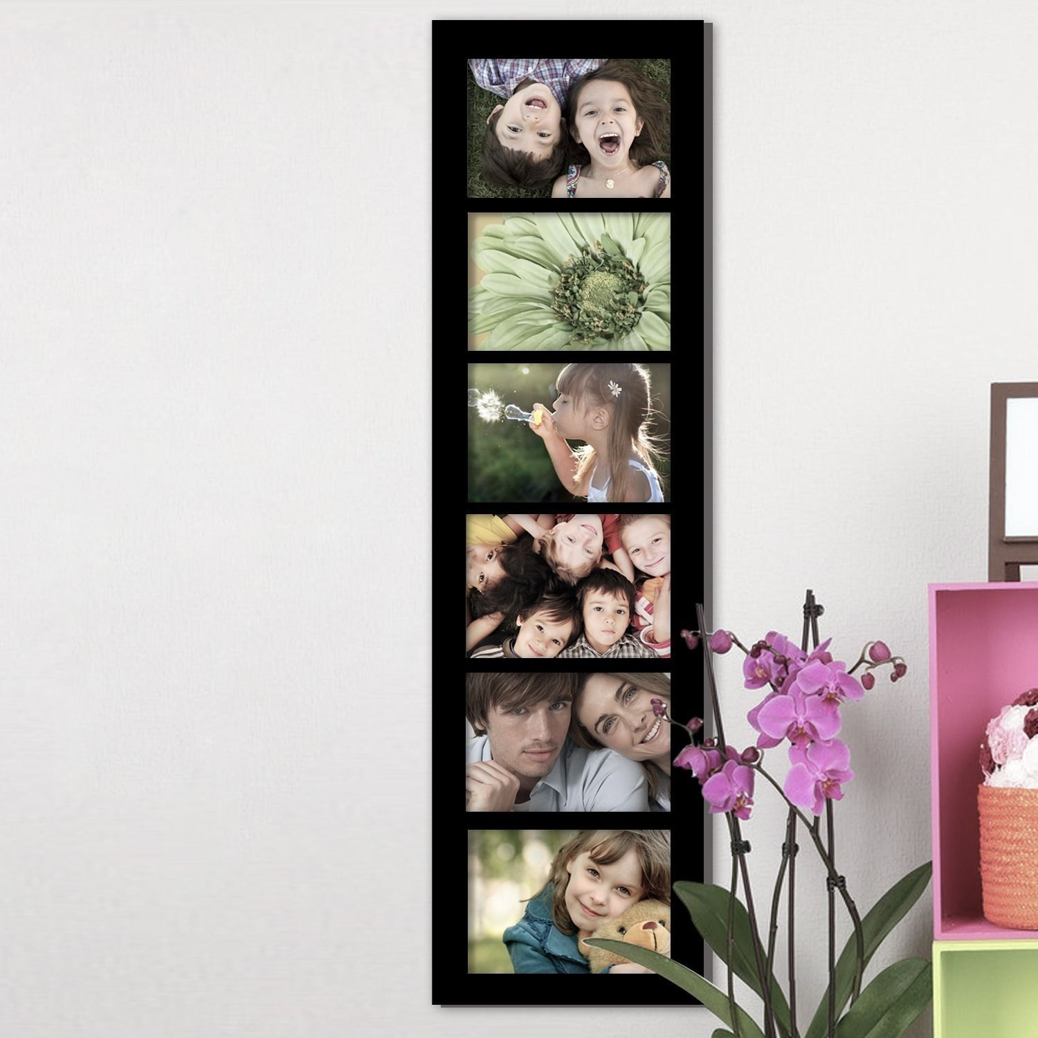 Adeco 6-opening Black 5x7 Collage Picture Frame (Black) (MDF ...