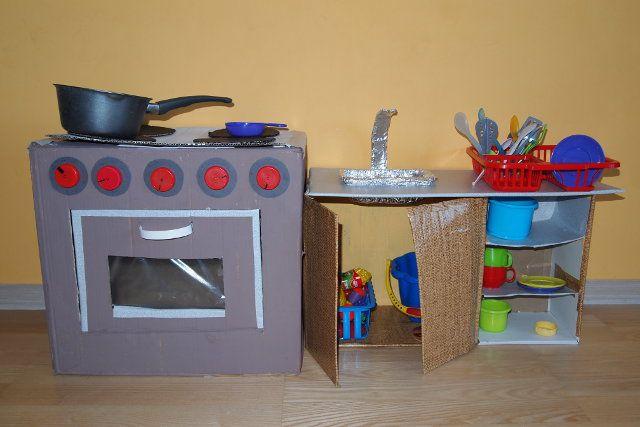 Kuchnia Z Kartonow Dla Dzieci Kids Room Kids Room