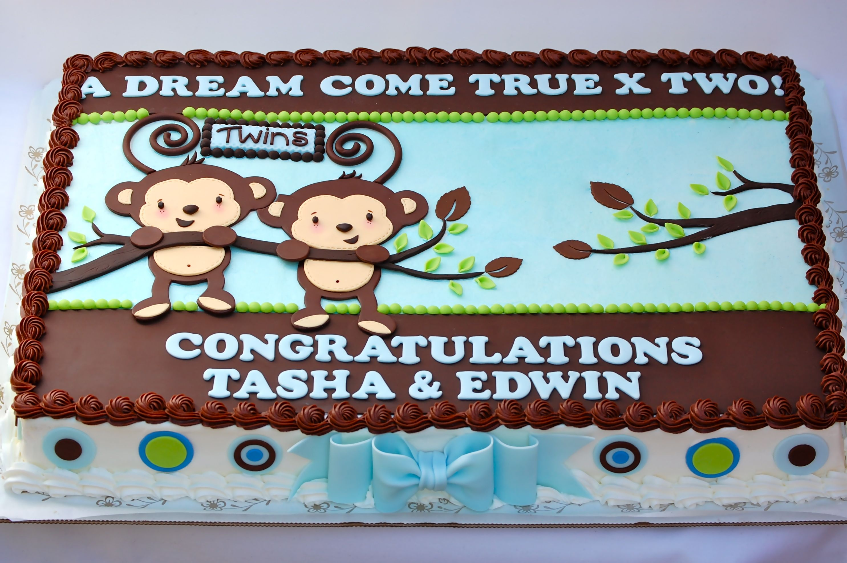 Monkey Baby Shower Sheet Cakes Ibovnathandedecker