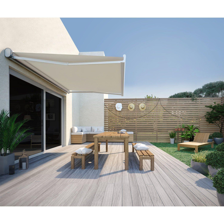 Store Banne Manuel Nori Coffre Integral 4 X 3 M Beige Store Banne Motorise Stores Exterieurs Terrasse Maison