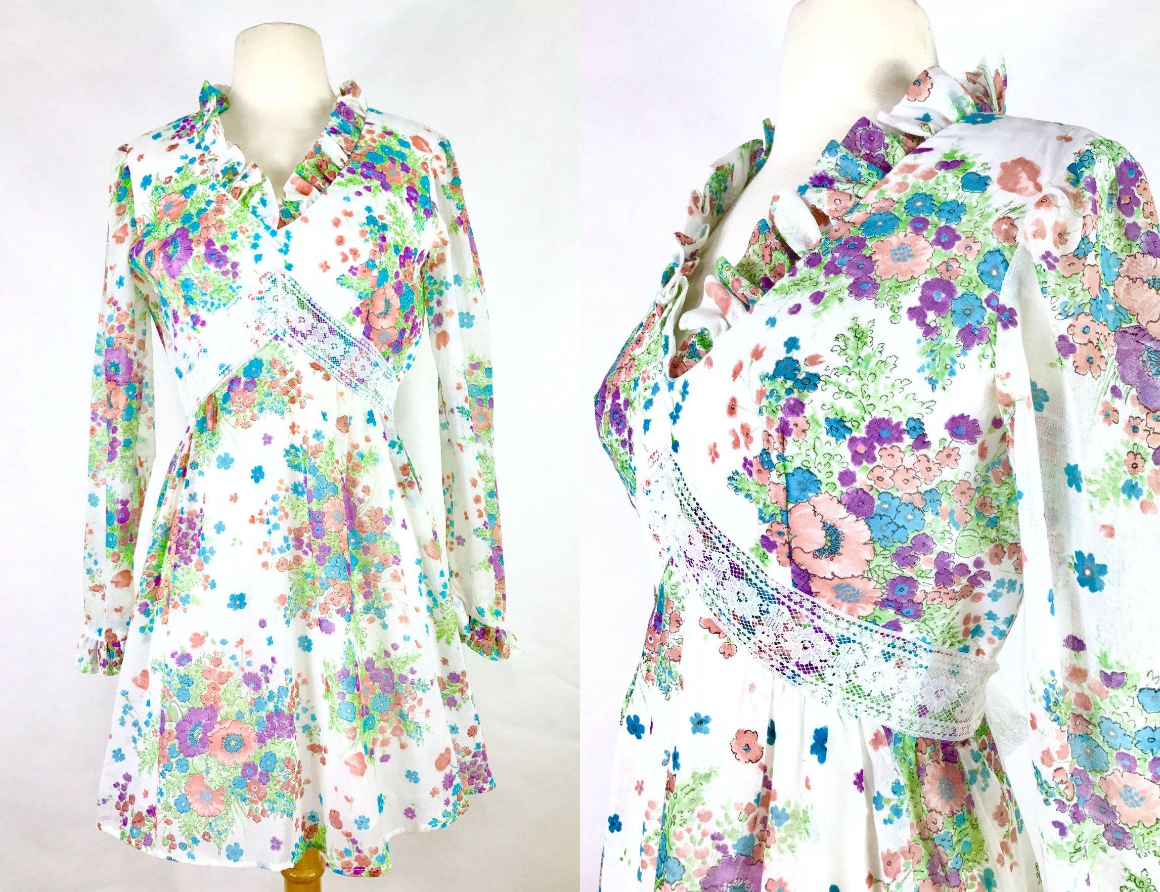 Gorgeous s babydoll dress vintage s mini dress white