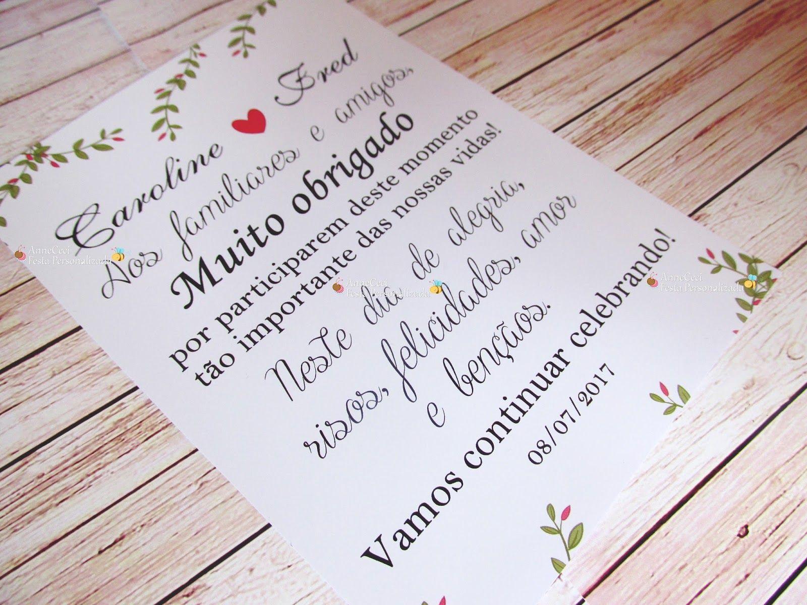 Mensagens Para Cartão De Casamento: Image Result For Mensagem De Agradecimento Para Os