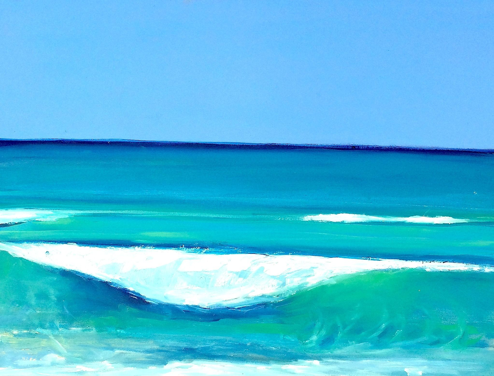 New wave by arun prem monochromatic art art waves