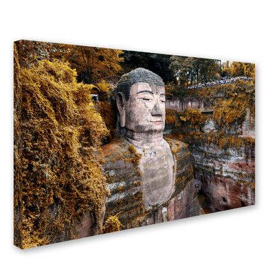 "Trademark Art ""Giant Buddha I"" by Philippe Hugonnard Photographic Print on Wrapped Canvas Size: 22"" H x 32"" W x 2"" D"