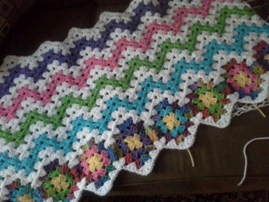 Candy Stripe Granny Ripple Afghan Crochet Granny Ripple Afghans