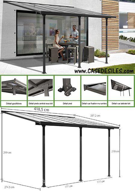 Auvent aluminium toit terrasse 418x307m TT3042AL Pergolas and