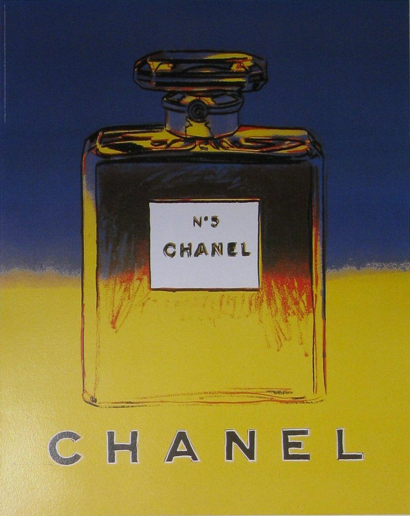 Chanel No.5 (Blue/Yellow) Authentic Vintage Poster by Andy Warhol in ...