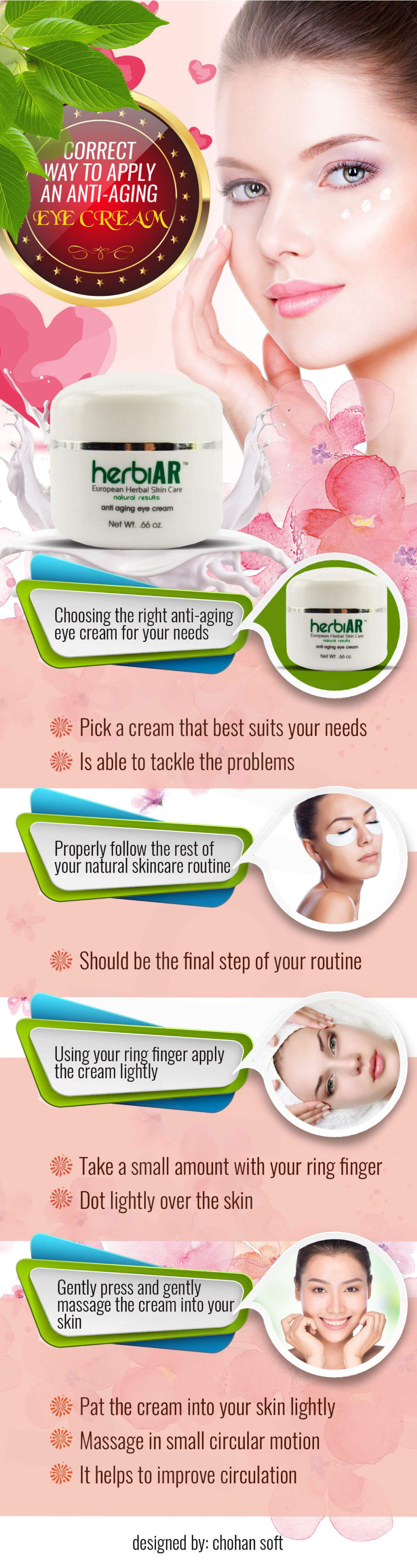 Apply Anti Aging Cream #organicmakeupinfographic