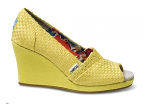Tom's Shoes yellow wedge ... LOVE IT!
