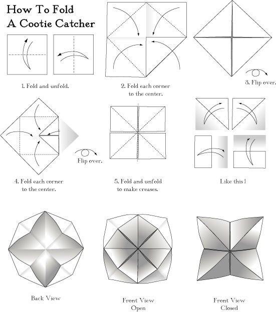 paper folding fortune teller instructions