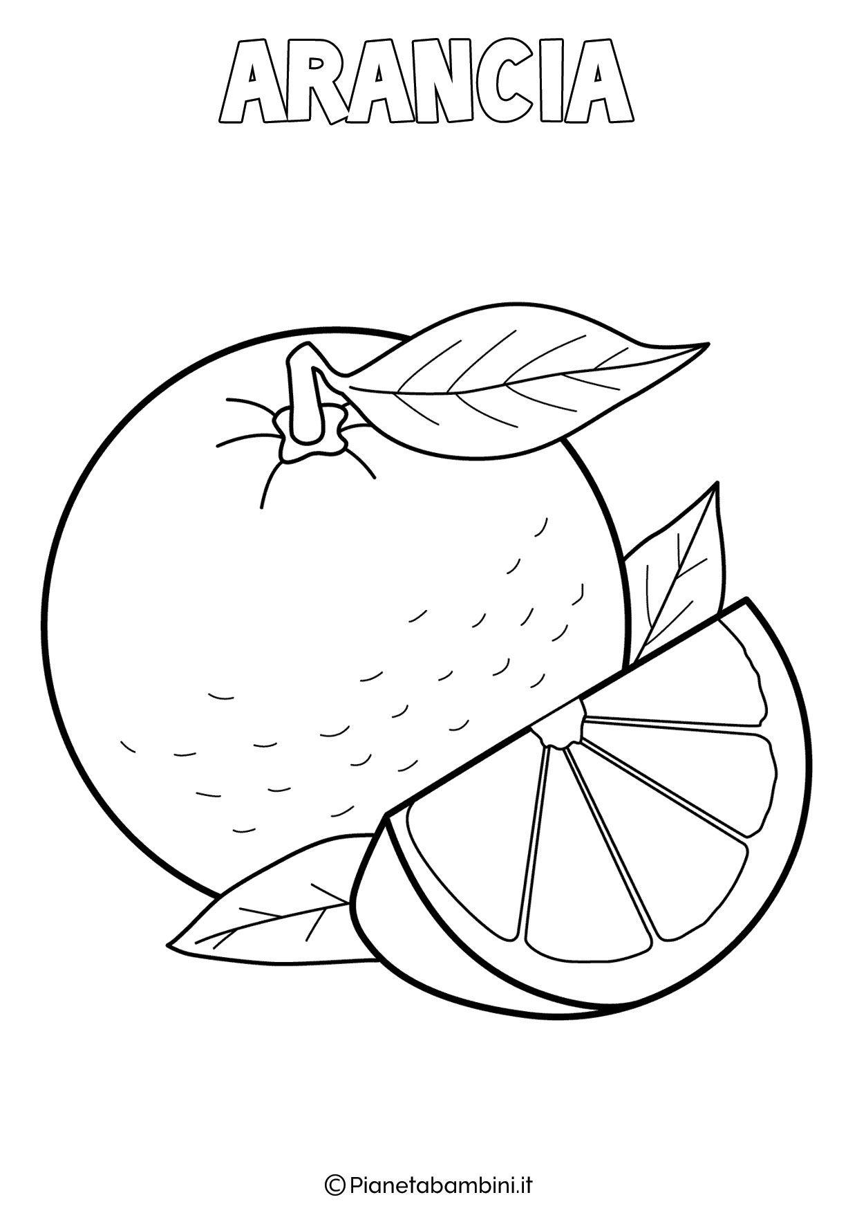 Disegni Di Frutta Invernale Da Colorare Pianetabambini It 30