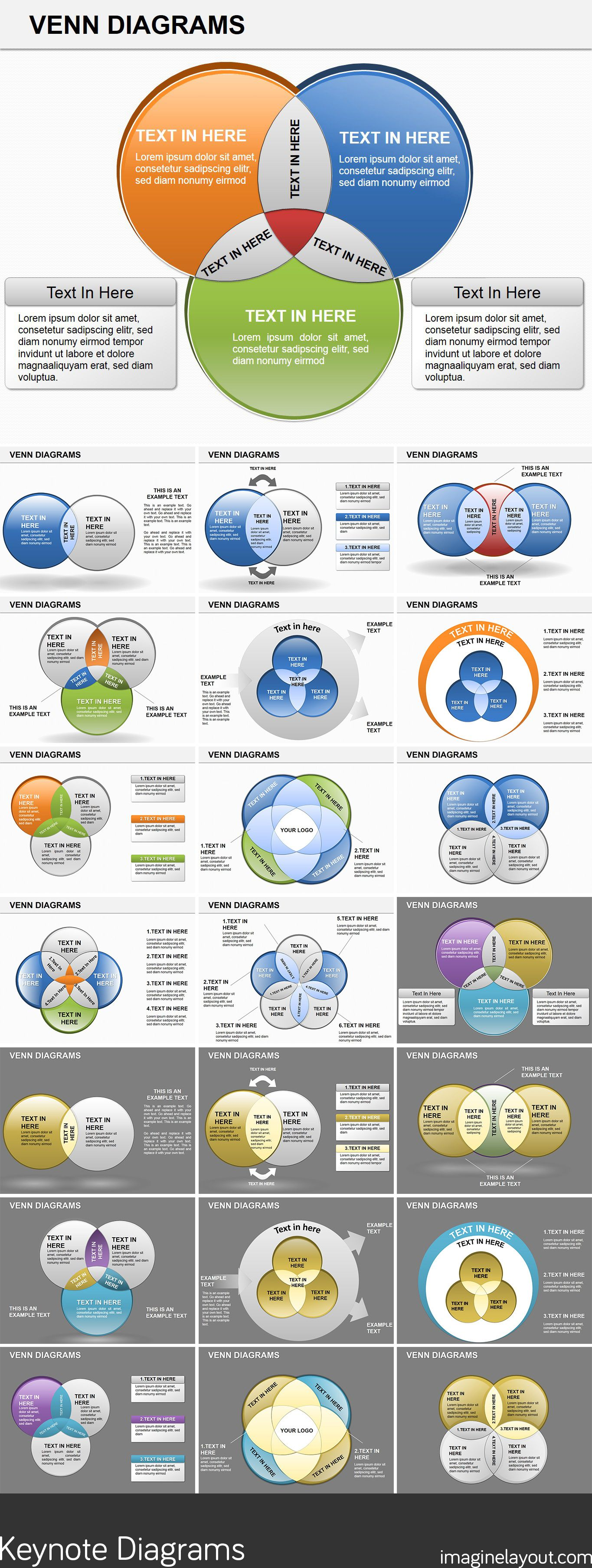Venn Diagrams Keynote Template  Venn Diagrams Keynote And Diagram