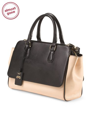 Leather Two Tone Tote