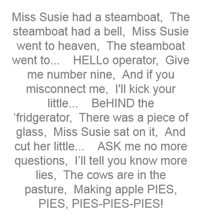 Miss Susie Had A Steamboat The Rhymes For Kids Poetry For Kids Kids Songs By helping ug you make the world better. miss susie had a steamboat the