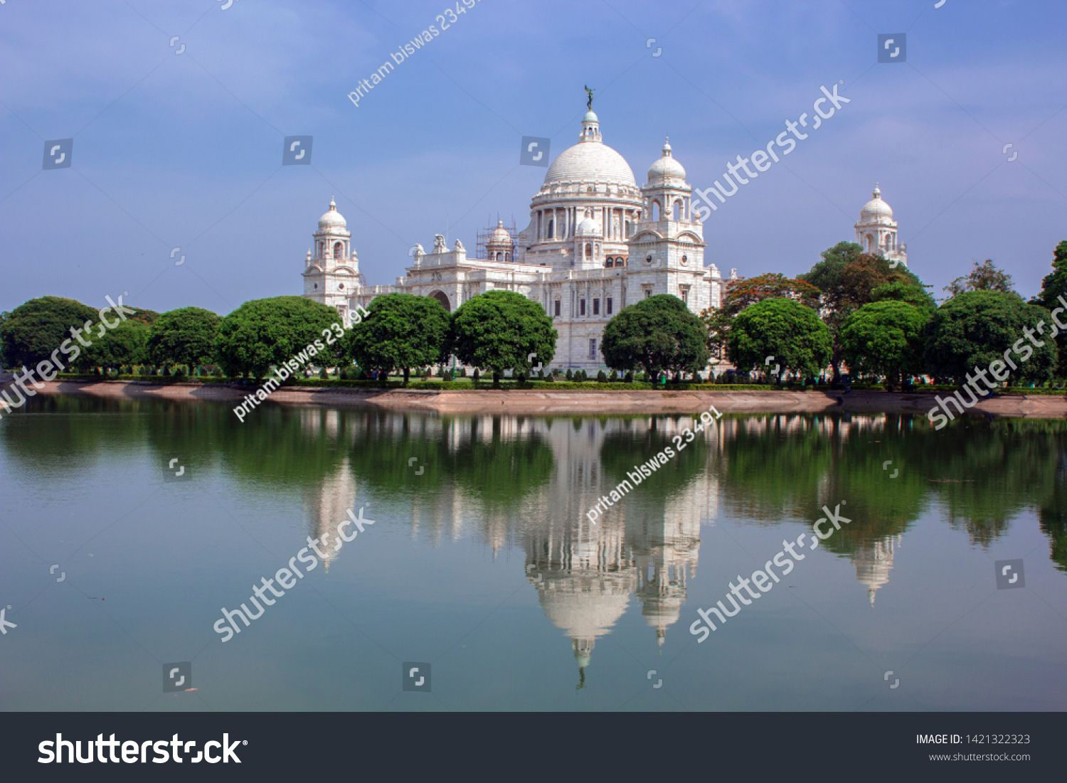 The Victoria Memorial Is A Large Building In Kolkata West Bengal