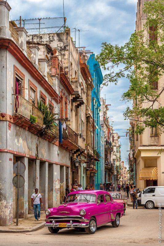 Cuba Street Car  *DISCOUNTED OFFERS* A3 A4 Original Poster Print