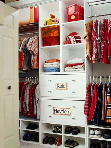 Great Closet Organization Tips   Two Kids One Closet   Click Pic For 36 DIY Closet  Organizer
