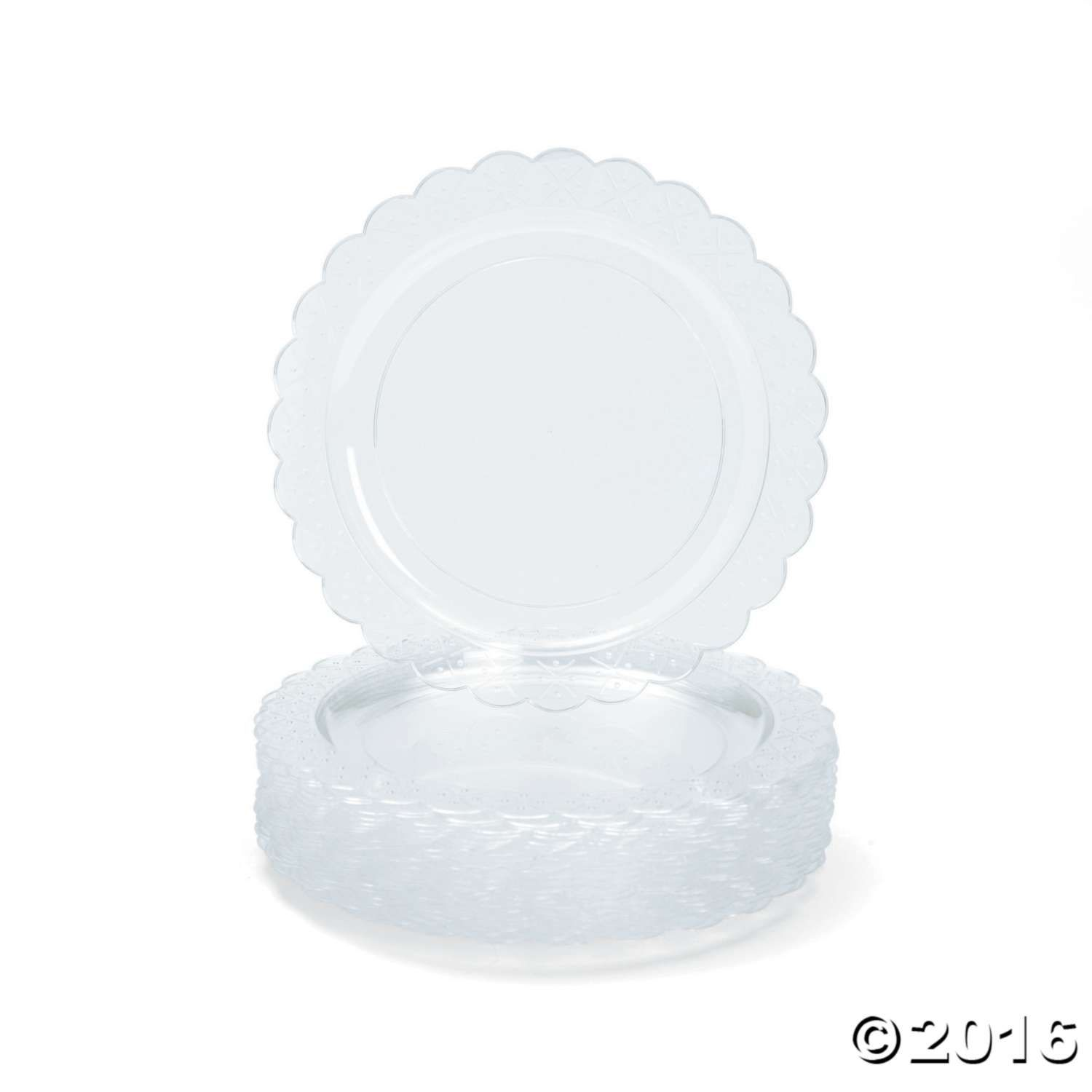 Remember To Order Extra Plates For Your Wedding Reception Anniversary Party Or Next Birthday These 9 Plastic With Scalloped Edges Make