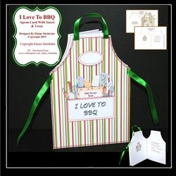 I Love To BBQ   Shaped Cut   Fold Apron Card With Insert   Verse on Craftsuprint - View Now!