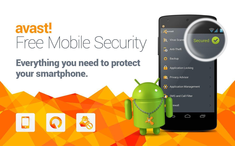 تحميل برنامج افاست للموبايل Avast! Mobile Security 2016