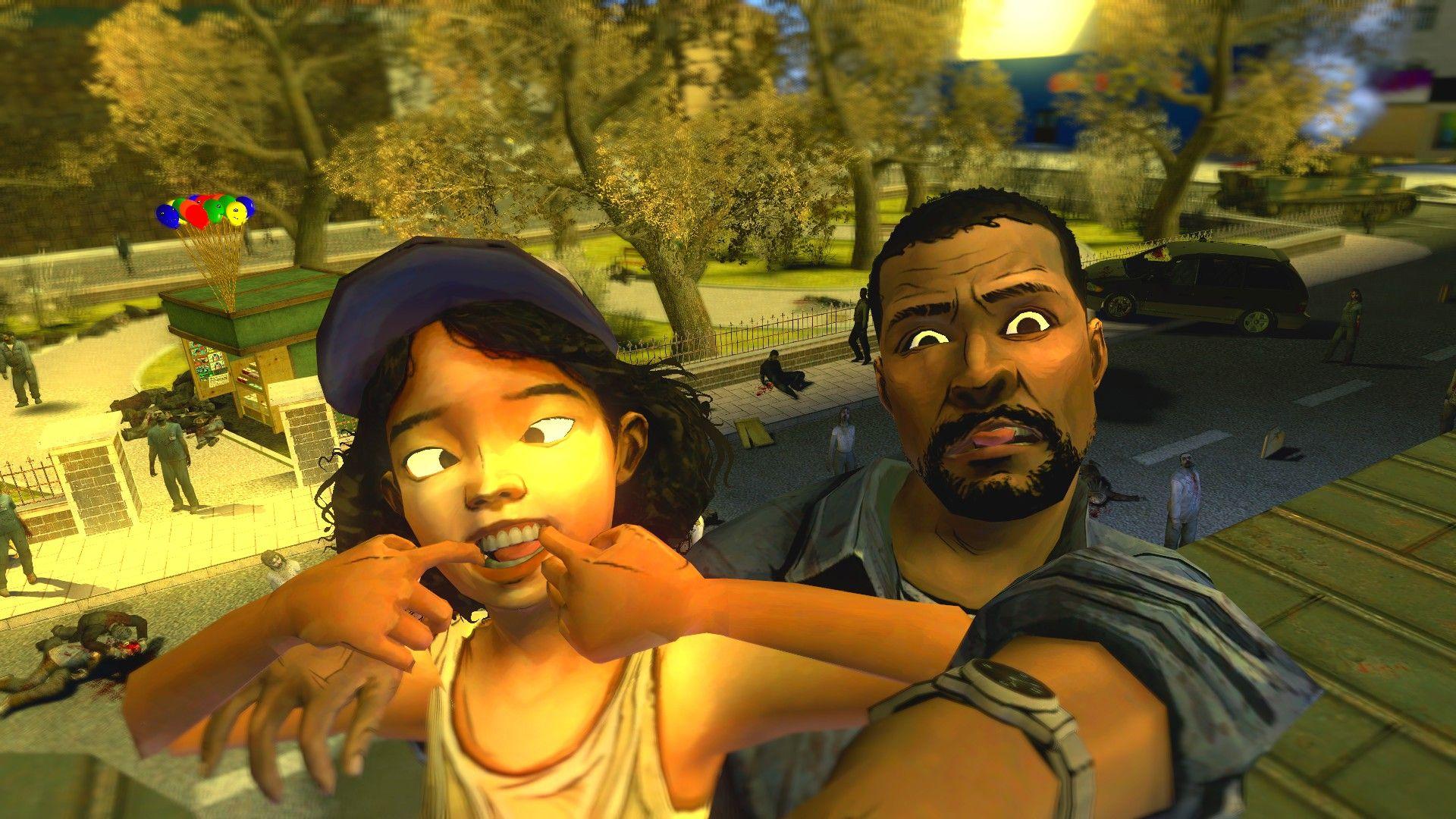 Walking Dead Selfie Video Game Fun Pinterest We
