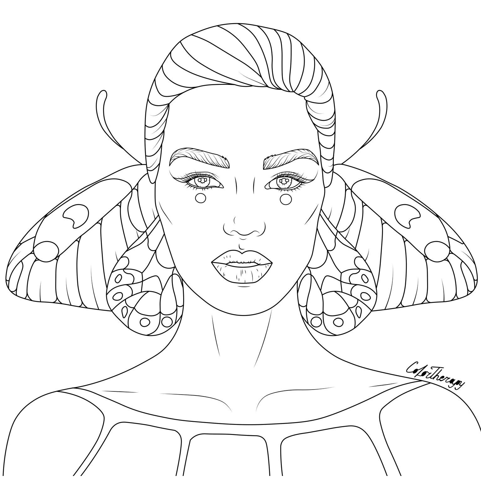 The Sneak Peek For The Next Gift Of The Day Tomorrow Do You Like This One Lady Butterfly Butterfly Coloring Page Coloring Pages Coloring Books