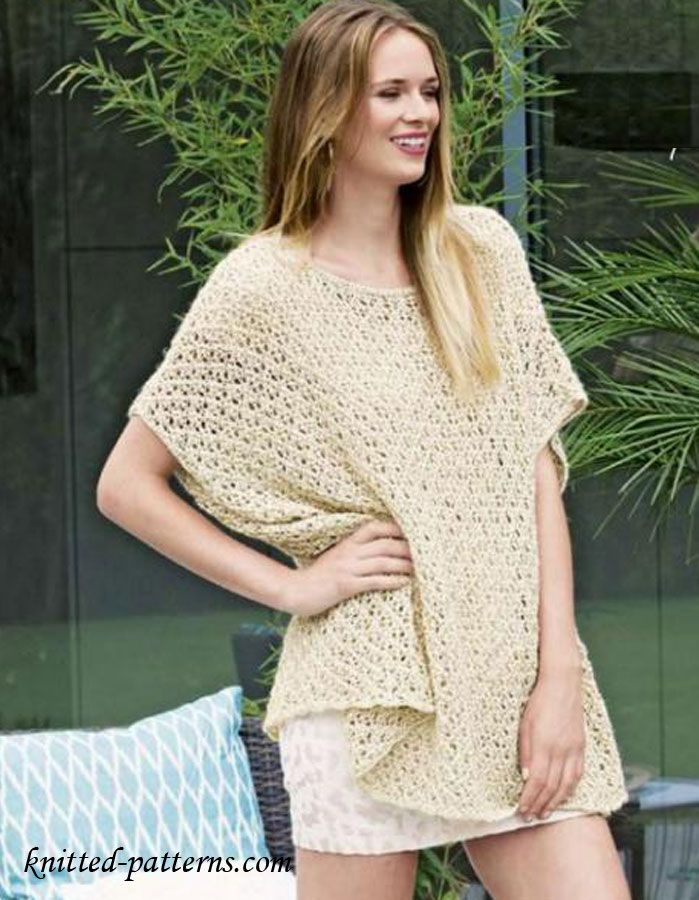 Summer Lace Poncho | Knitting | Pinterest | Ponchos, Chalecos ...