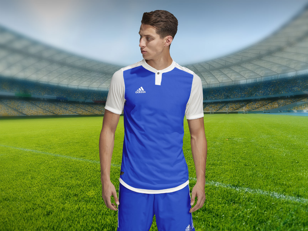 Download Free Adidas Style Soccer Jersey Sports T-Shirt Mockup PSD ...