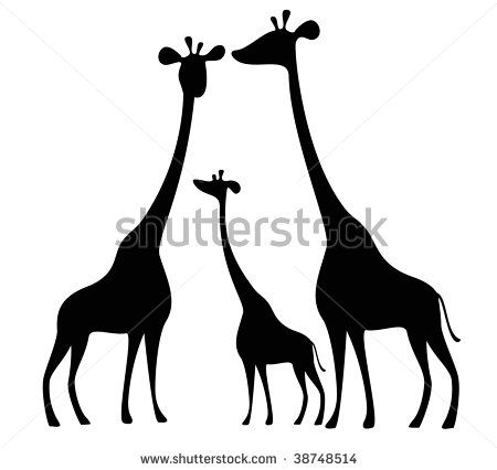 giraffe silhouette - Thinking about painting this for my son. 3 canvas painting