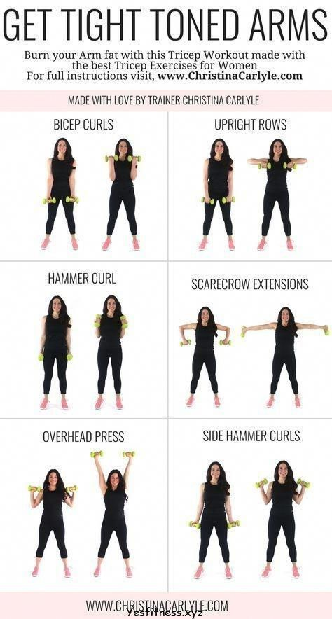 Arm Workout For Women Tone Arm Workout Weights Gym Arm And