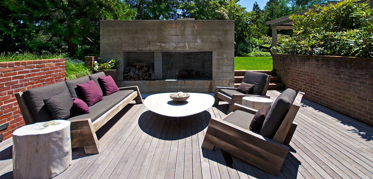 Outdoor LoungeDining Area East Hampton NY II Loam Landscape