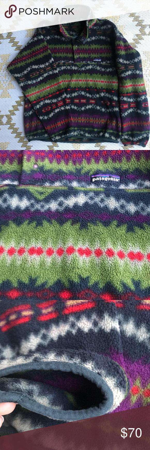 Patagonia synchilla snapt pullover fleece jacket patagonia