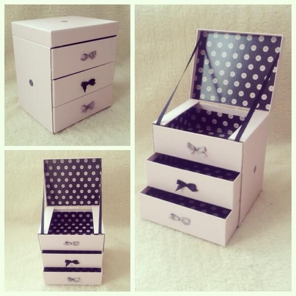 My DIY Homemade Jewellery Makeup Box Upcycled From Empty Glossyboxes See A Step
