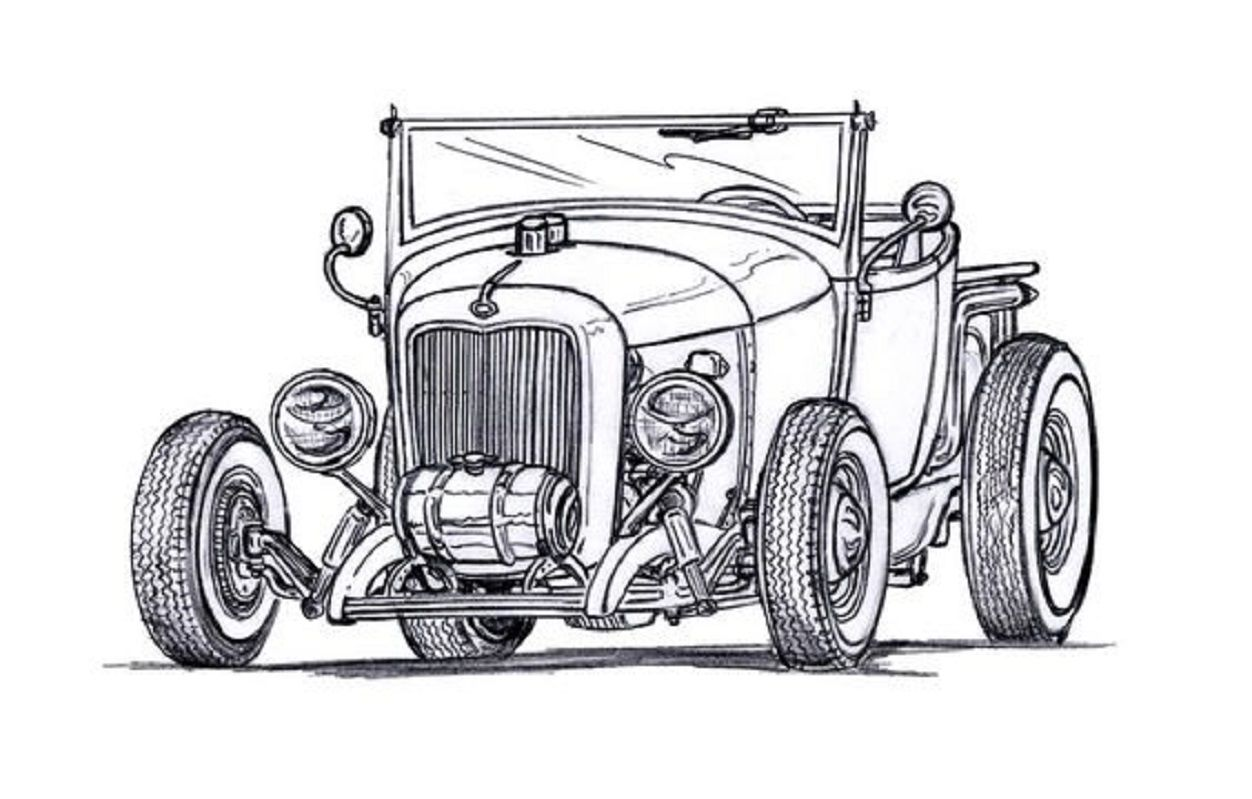 Pin de Pete Woods en Hotrod Clip Art | Pinterest | Dibujo