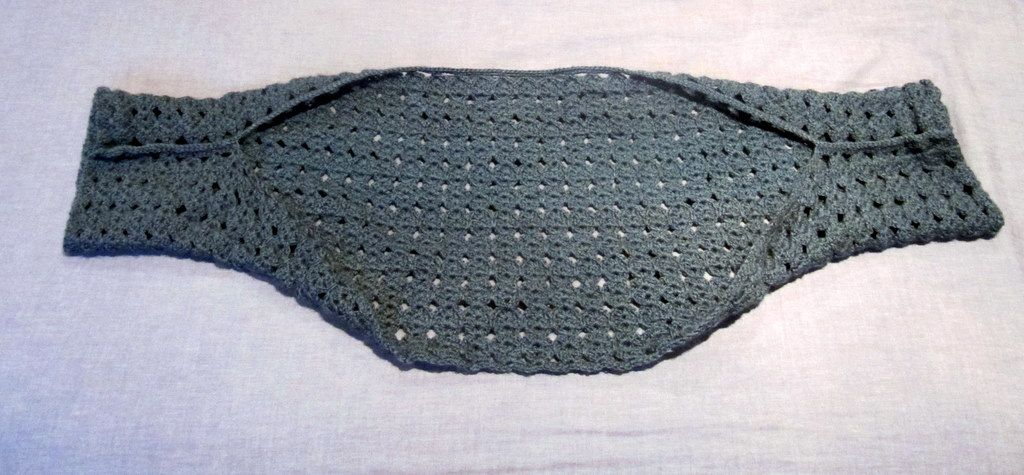 Easy Shrug Crochet Pattern Just Make A Rectangle Then Slip Stitch
