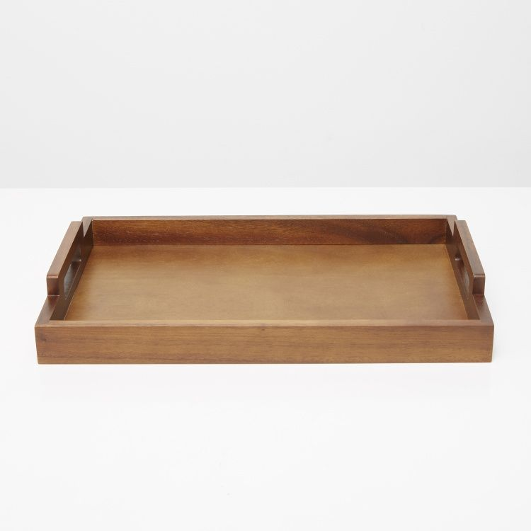 صينية تقديم خشبية ماونتن فيو بنى Food Table Tray Serving Tray